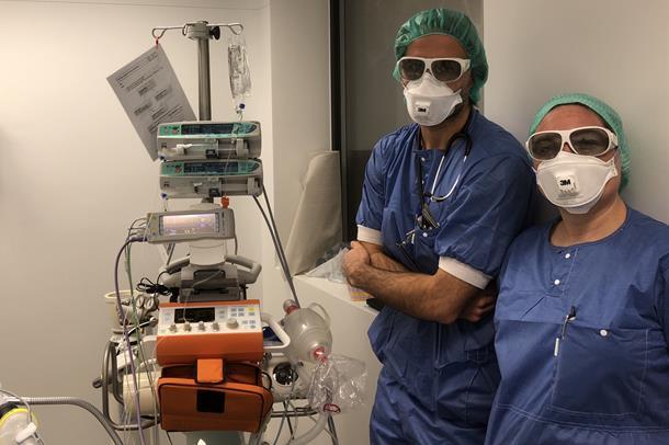 Forberedelse til laseroperasjon ved HSR