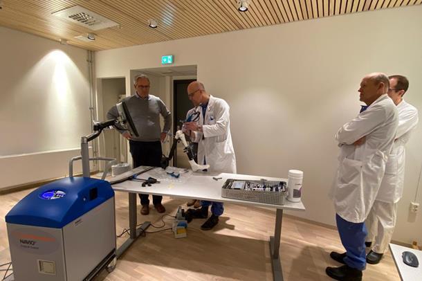 Opplæring i bruk av navigasjonscomputor til proteseoperasjoner